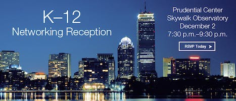 K-12 Networking Boston Reception