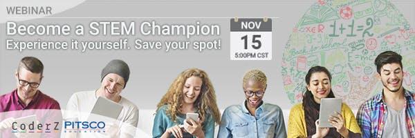 Become a STEM Champion, Webinar