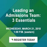 Leading an Admissions Team: Three Essentials