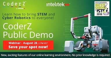 STEM and Cyber Robotics for all: CoderZ Public Demo