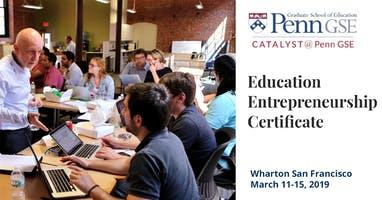 Education Entrepreneurship Certificate Program