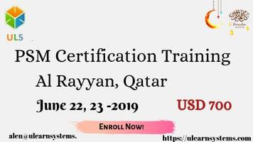 PSM Certification Training Course in Al-Rayyan, Qatar.