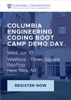 Columbia Engineering Coding Boot Camp Demo Day