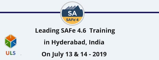 Leading SAFe 4.6 Certification Training in Hyderabad, India