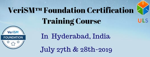 VeriSM Foundation Certification Training Course in Hyderabad, India.