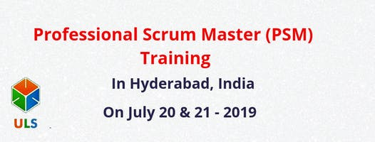 Professional Scrum Master (PSM) Certification Training Course in Hyderabad, India