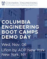 Columbia Engineering Boot Camps Demo Day