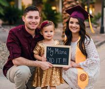 A family at graduation. Photo Credit: College Success Arizona