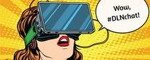Woman w/ AR/VR headset