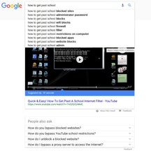 Google search results for getting around school IT systems