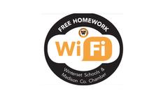 Winterset Free Wi-Fi Decal