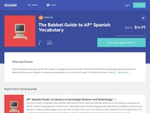 Babble materials on Quizlet premium content marketplace