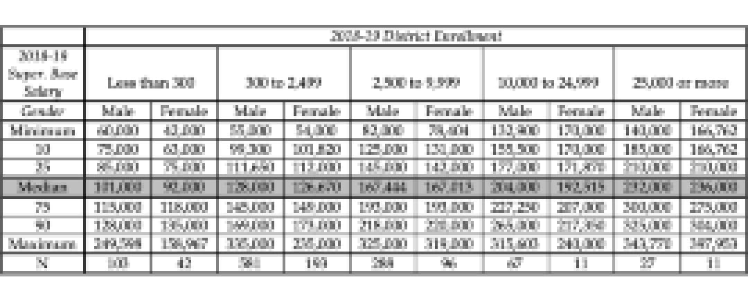 Superintendent Salaries Gender