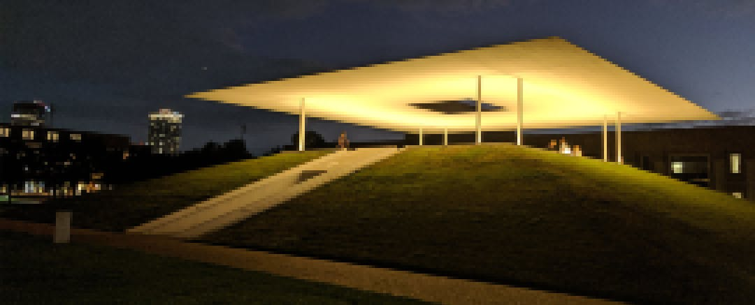 Skyspace at night