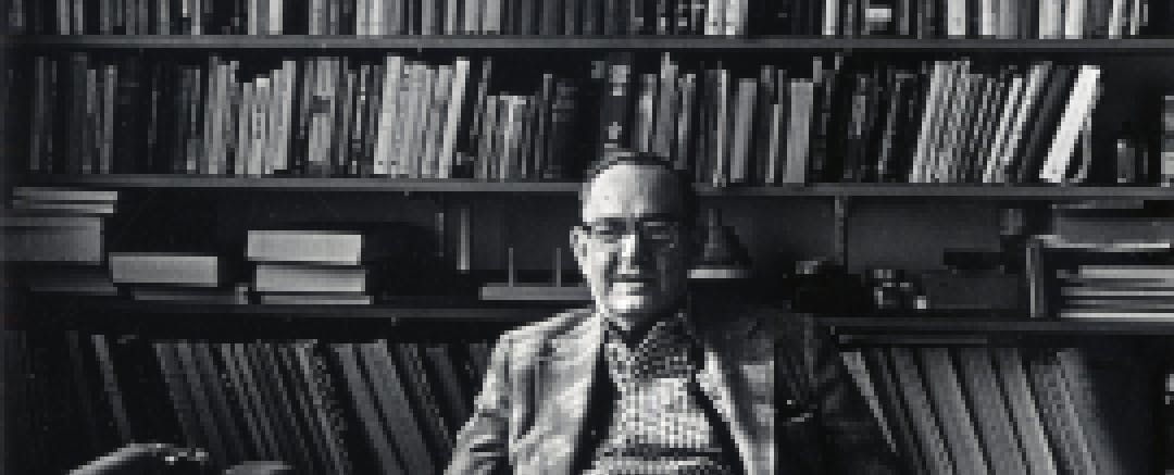 Herbert Simon in his office