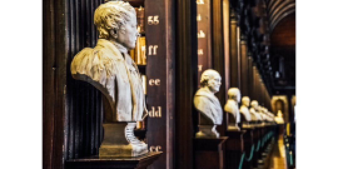 busts in library