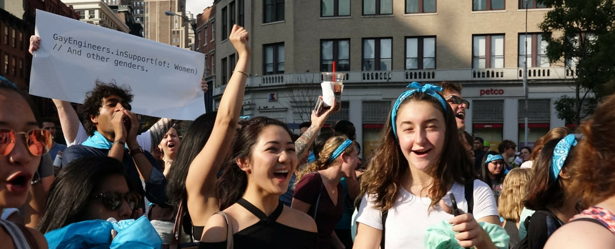 Girls Who Code's Rally For Women in Tech Takes Over New York City Square