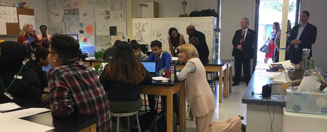 Betsy DeVos Visits Bay Area Public School for a Lesson in Personalized Learning
