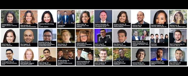 Forbes' 2018 '30 Under 30' Came Early This Year. Here's Who Made the Education List.