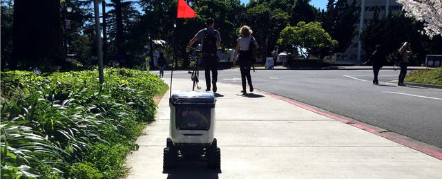 The Robots Have Arrived on Campus. They Come Bearing Food.