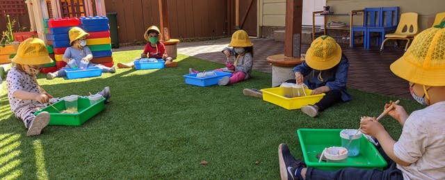 Distanced Play. No Hugs. How Everyday Child Care Routines Are Changing.