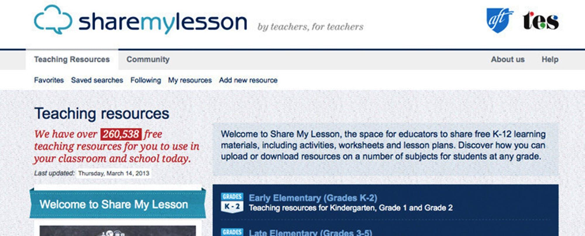 ShareMyLesson Provides Head Start for Common Core
