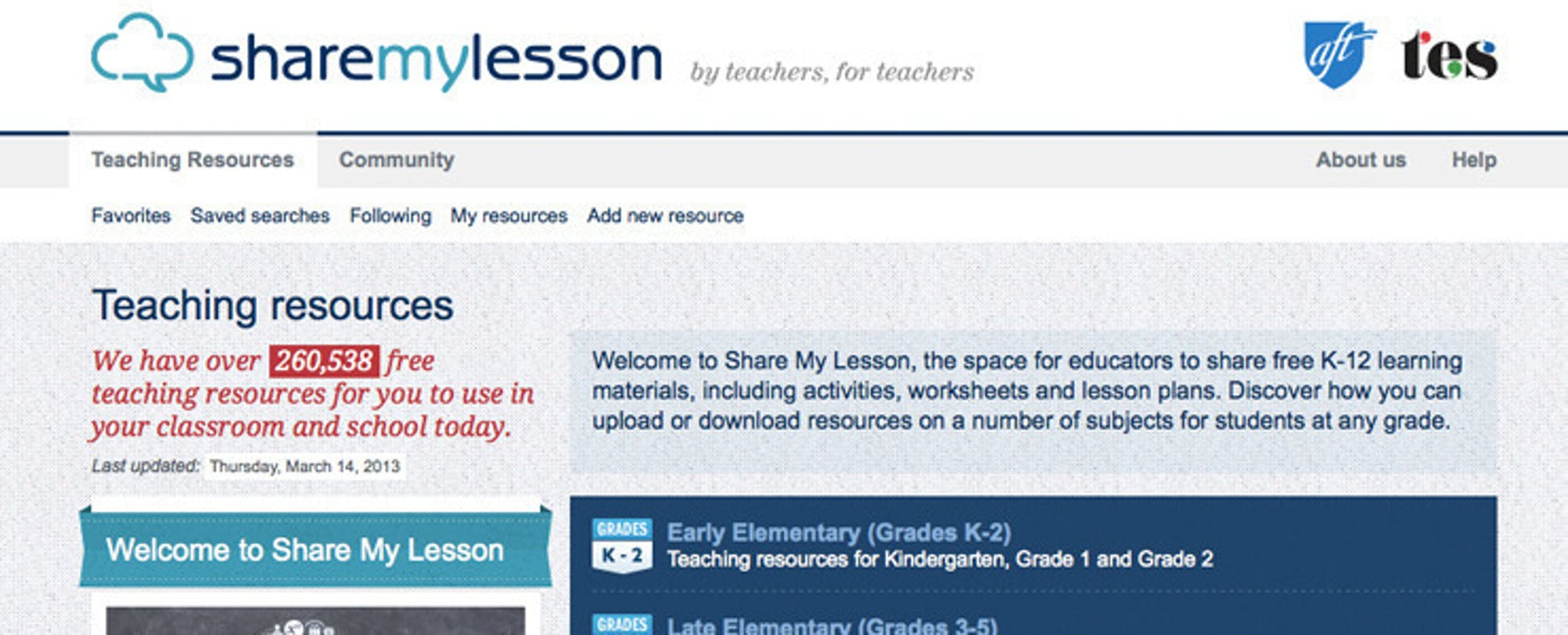 ShareMyLesson Provides Head Start for Common Core