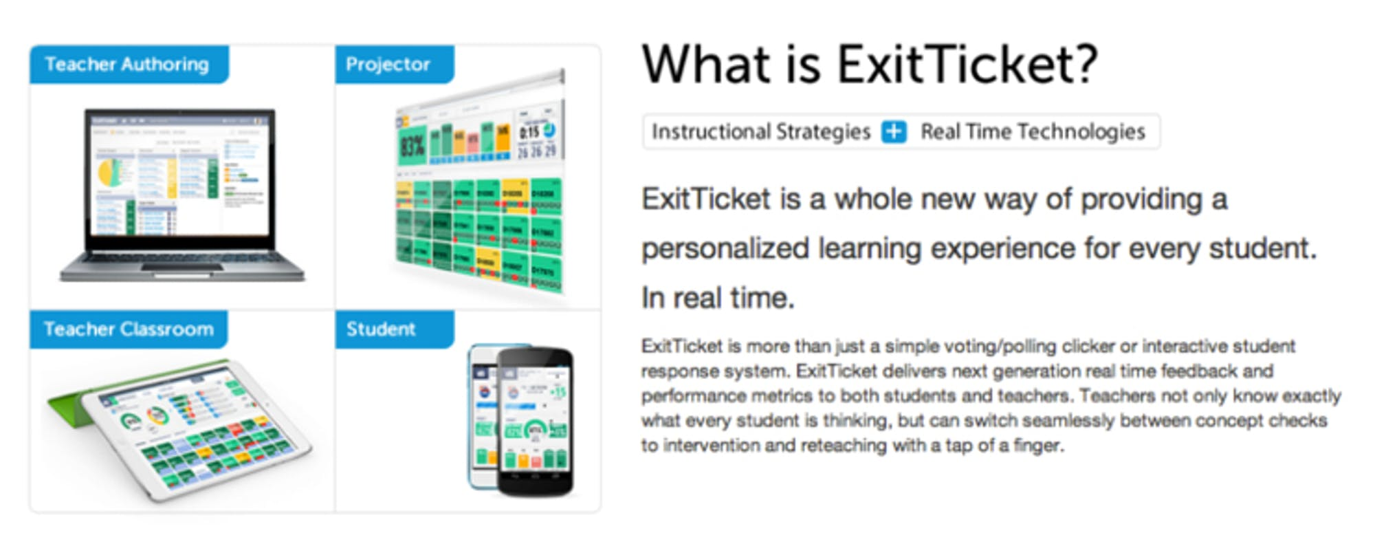 'ExitTicket' Checks on Student Learning