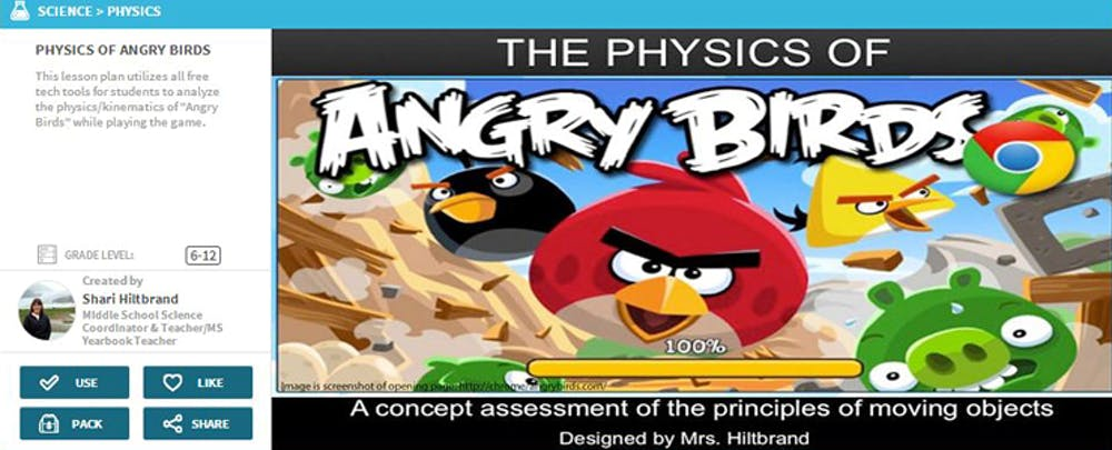 When to Teach Physics with 'Angry Birds'