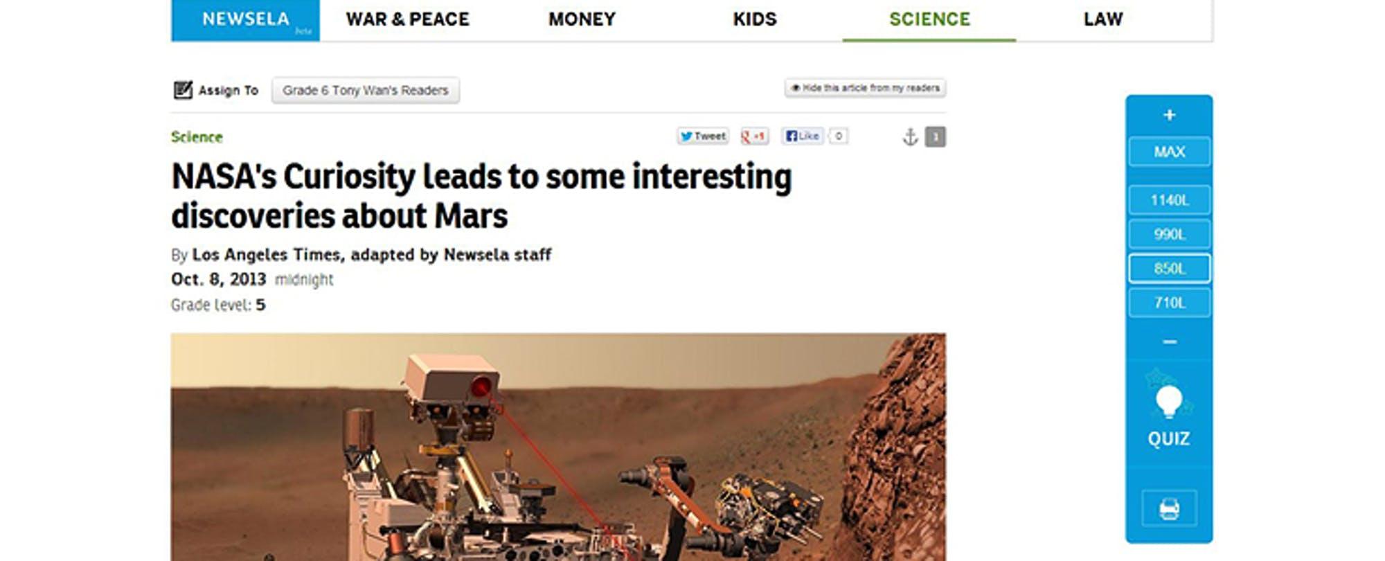 Newsela Raises $1.2M to Help Kids Read the News