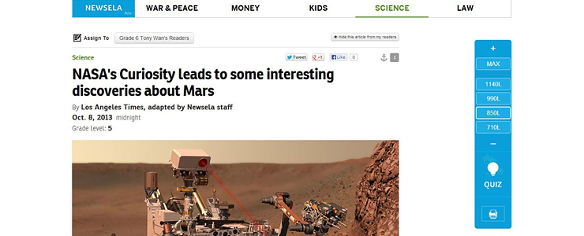 Newsela Raises $1.2M to Help Kids Read the News