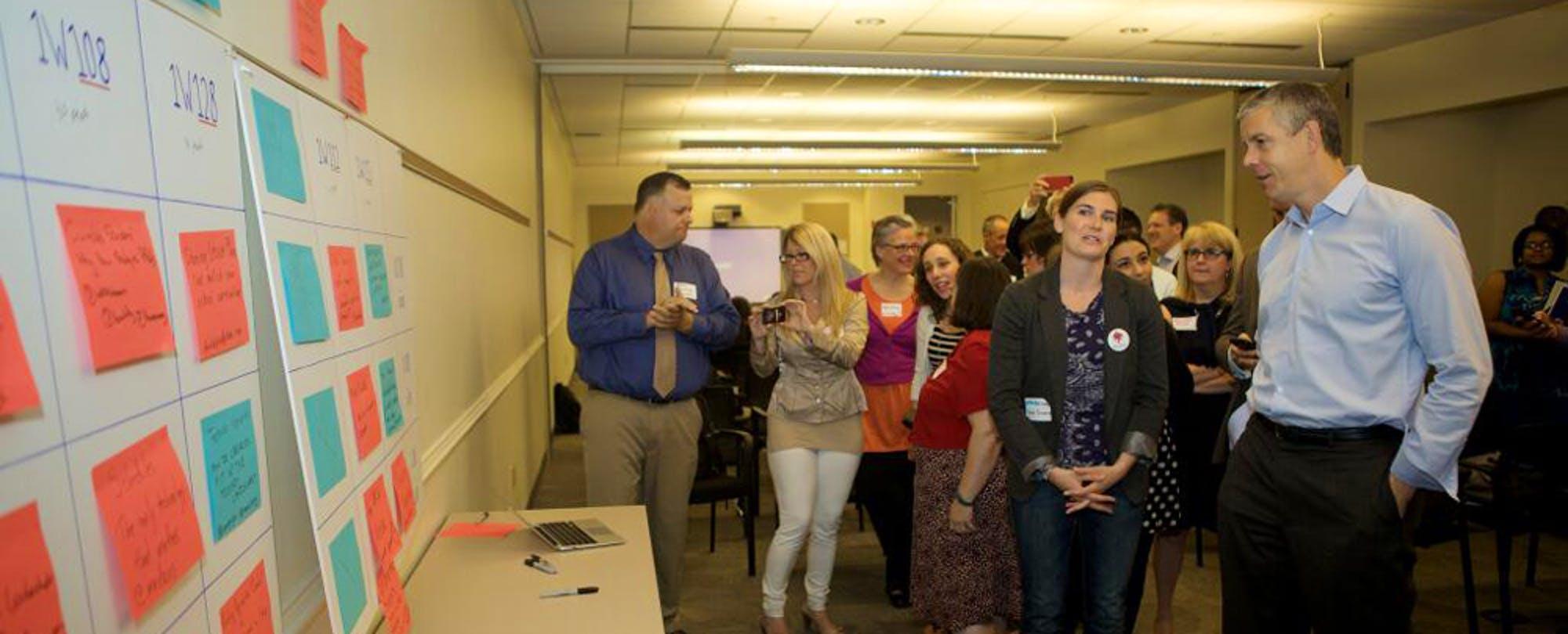 Arne Duncan Visits Edcamp at Department of Education HQ