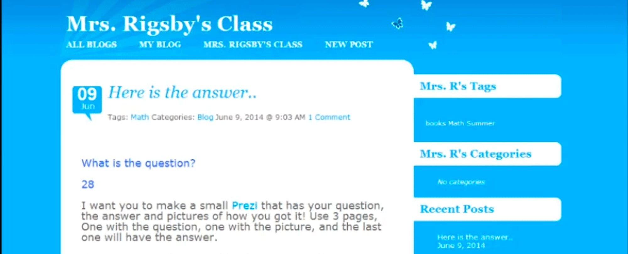 Self-Expression at a Young Age: Bringing Blogging to the Classroom