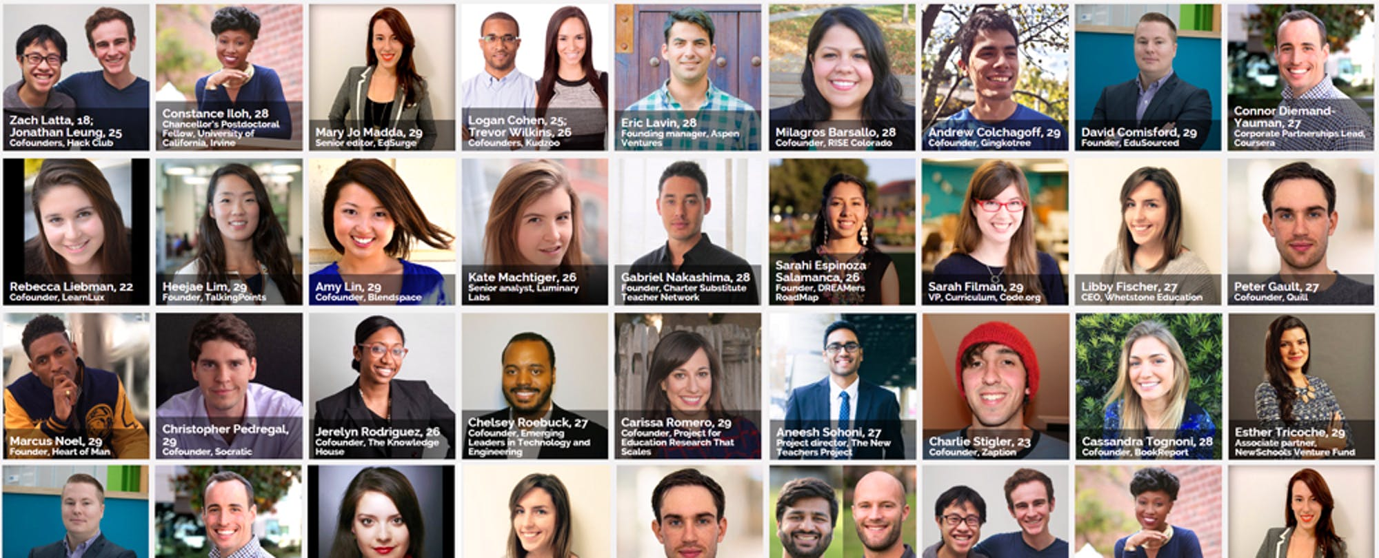 Forbes' '30 Under 30' Education Changemakers to Watch in 2016