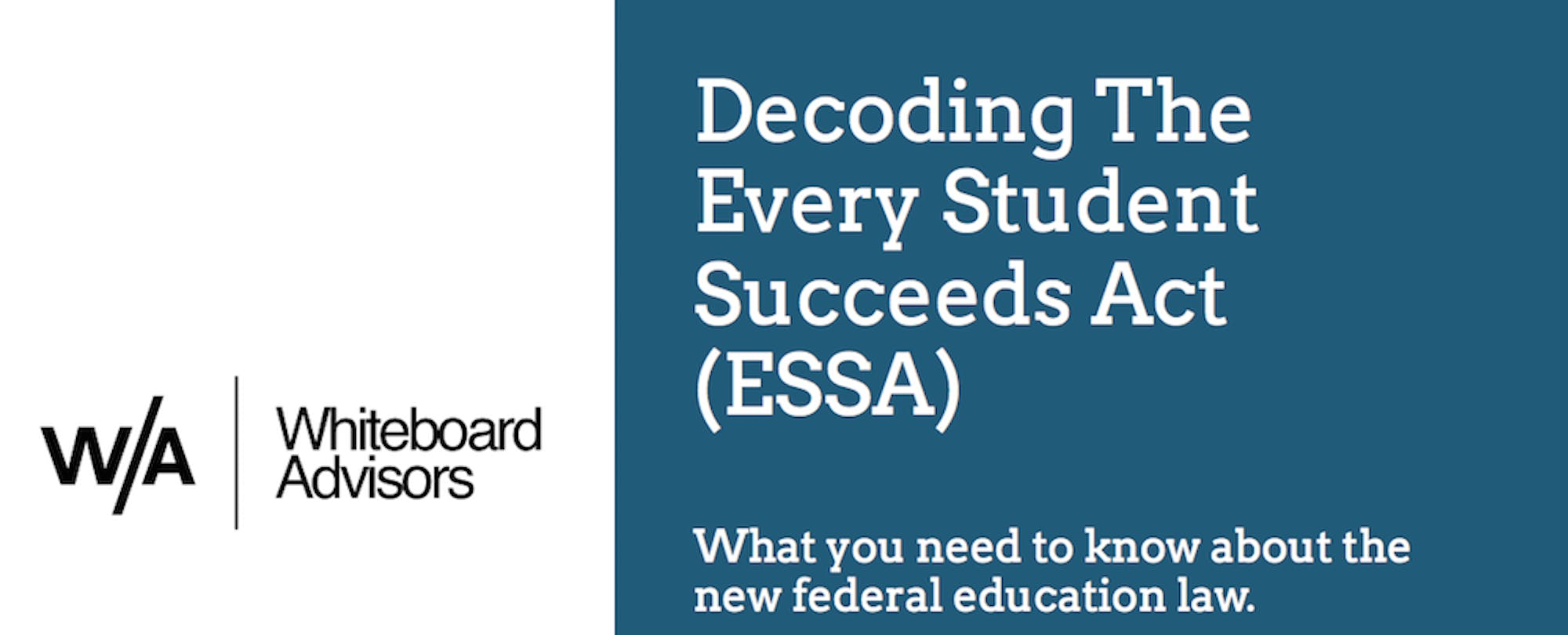 All You Need to Know About ESSA in One Hour