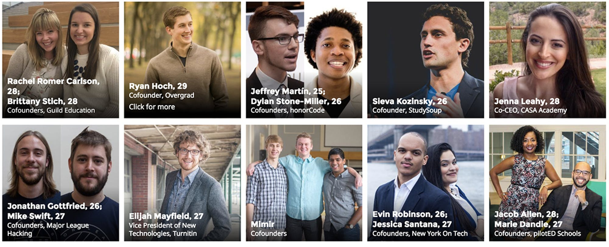 ​Forbes '30 Under 30' Education Leaders to Learn From in 2017