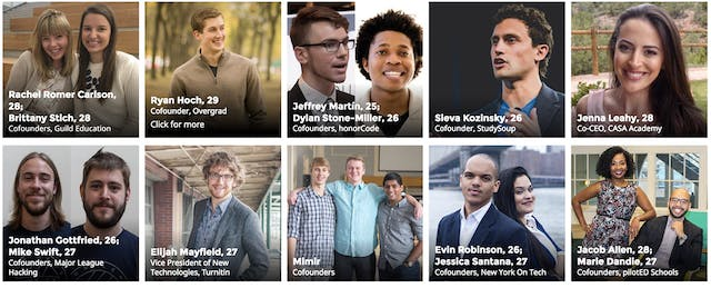 Forbes '30 Under 30' Education Leaders to Learn From in 2017