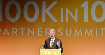 Bill Clinton Reiterates Obama's Commitment to Add 100,000 STEM Teachers to the Workforce