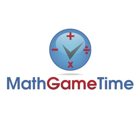 math game time a cliock with math symbols on a white background